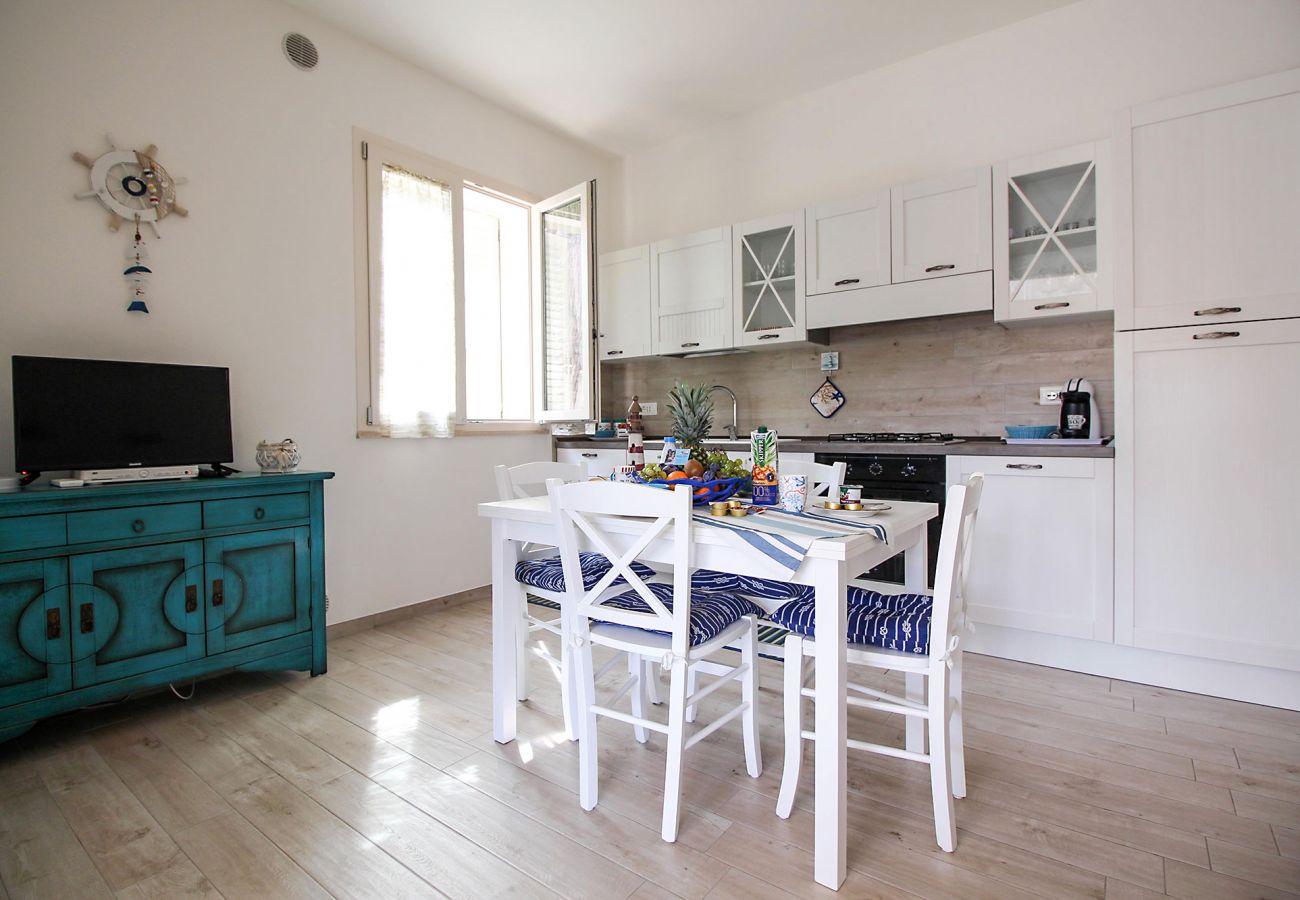 Marina di Grosseto - Die Essecke der Wohnung Ancora