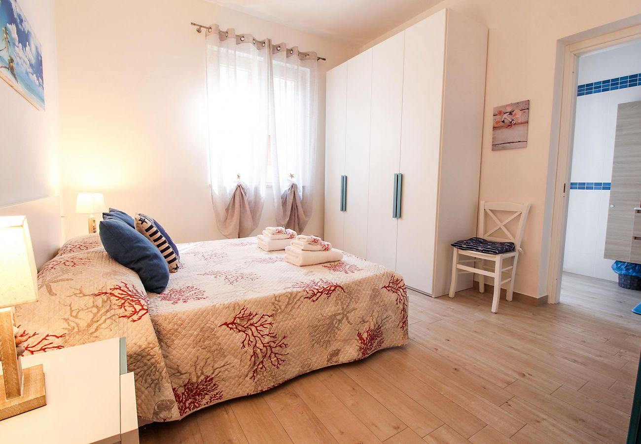 Schlafzimmer der Ferienwohnung Ancora