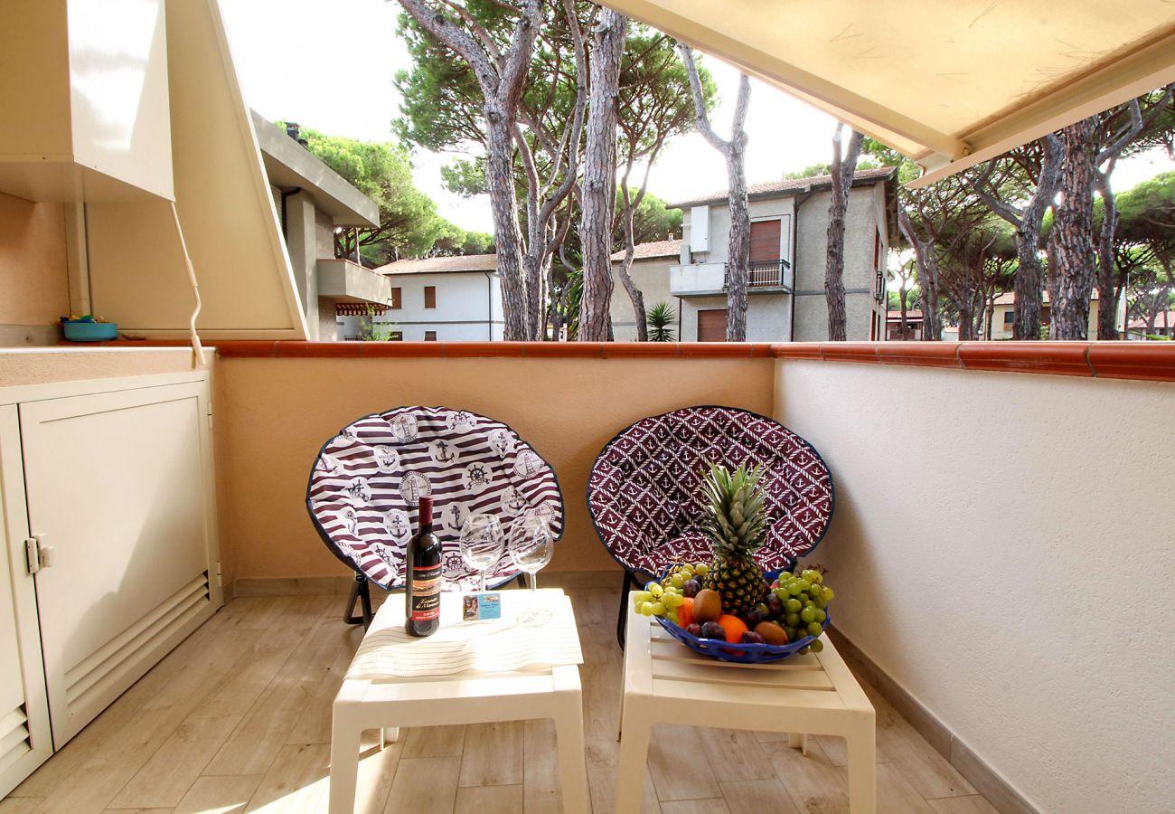 Marina di Grosseto - Wohnung Il Timone - Die überdachte Terrasse