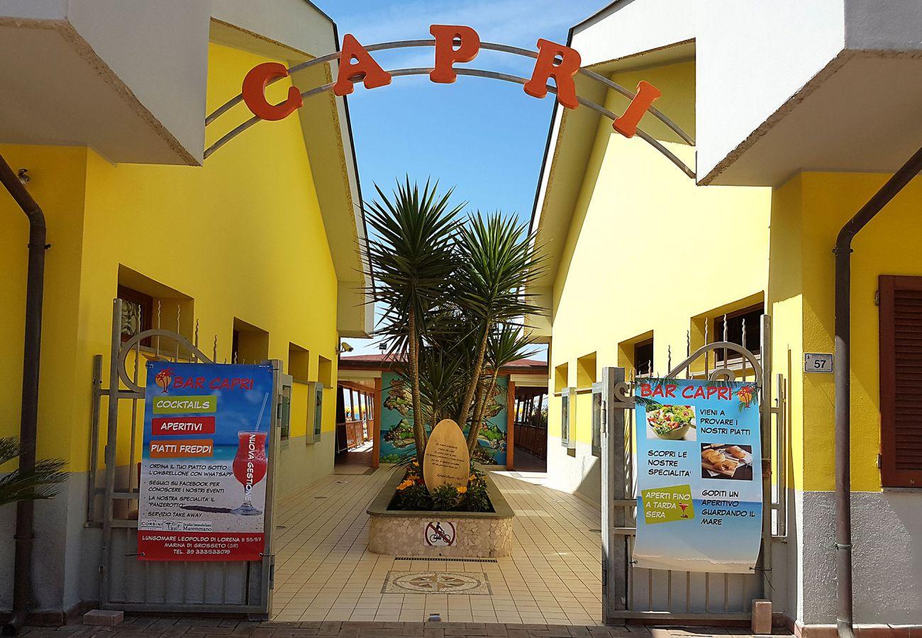 Marina di Grosseto - Das Bagno Capri für die Gäste der Residence Il Faro