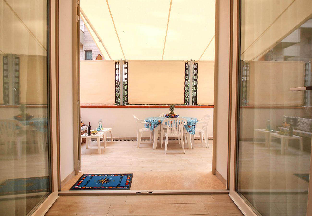 Marina di Grosseto - Wohnung L'Oblò - Das Esszimmer im Freien