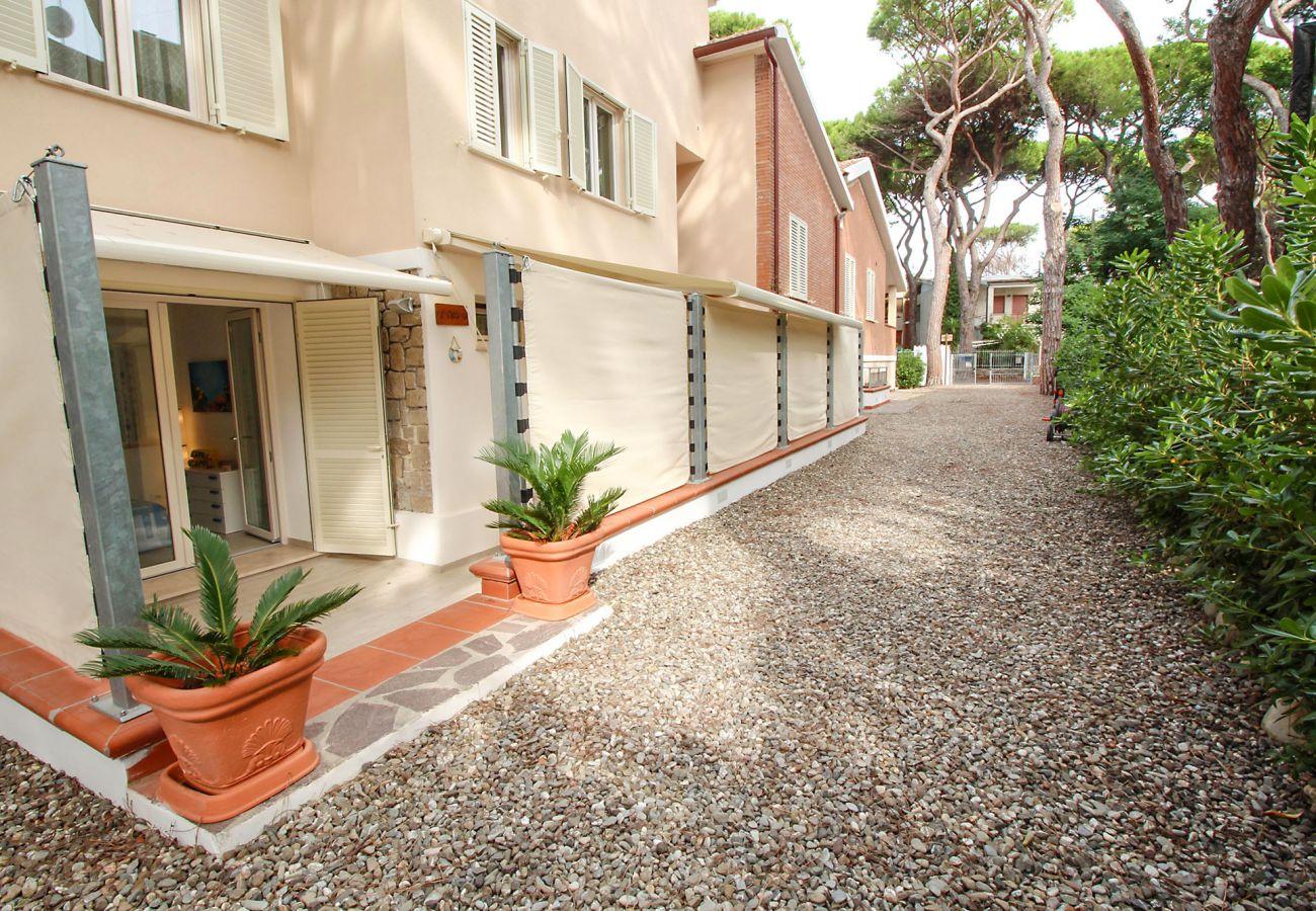 Marina di Grosseto - Wohnung L'Oblò - Die Auffahrt