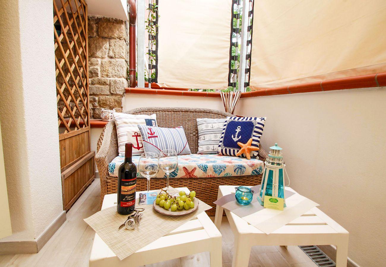 Marina di Grosseto - Wohnung L'Oblò - Entspannen Sie sich auf der Terrasse