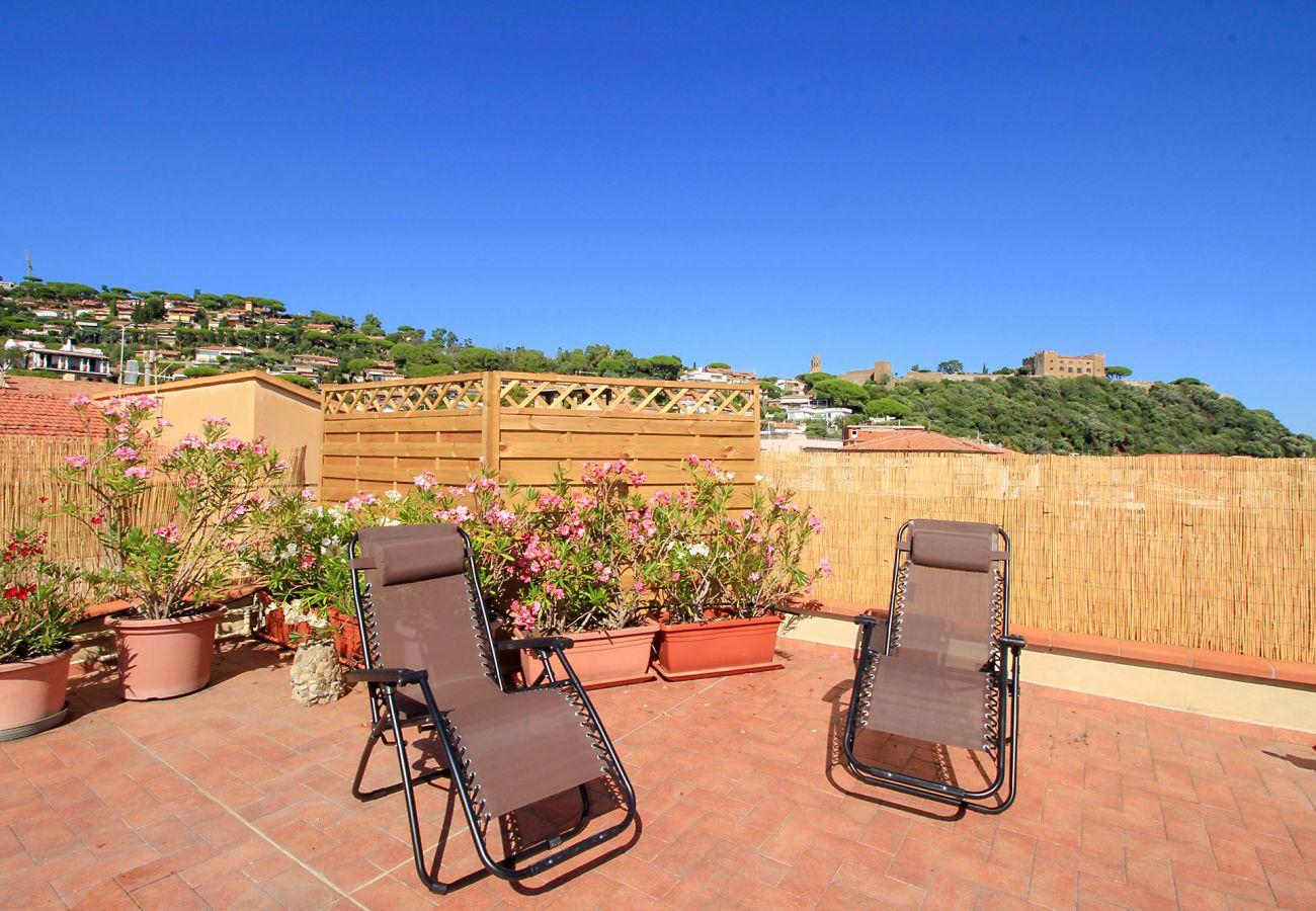 Castiglione della Pescaia - Wohnung Anna - Privatsphäre auf der Terrasse