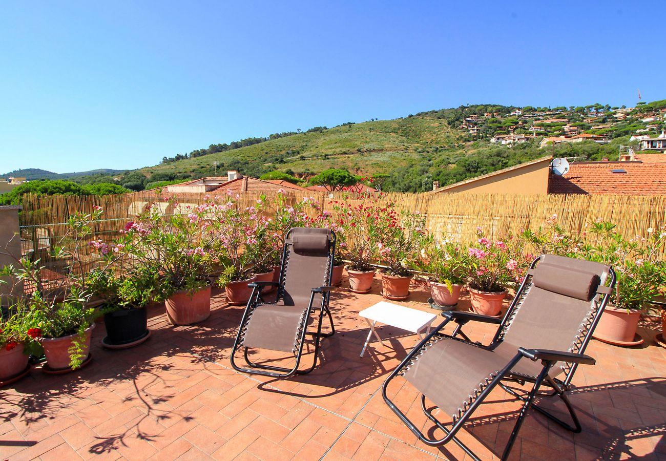 Wohnung Anna in Castiglione della Pescaia - Die private Terrasse