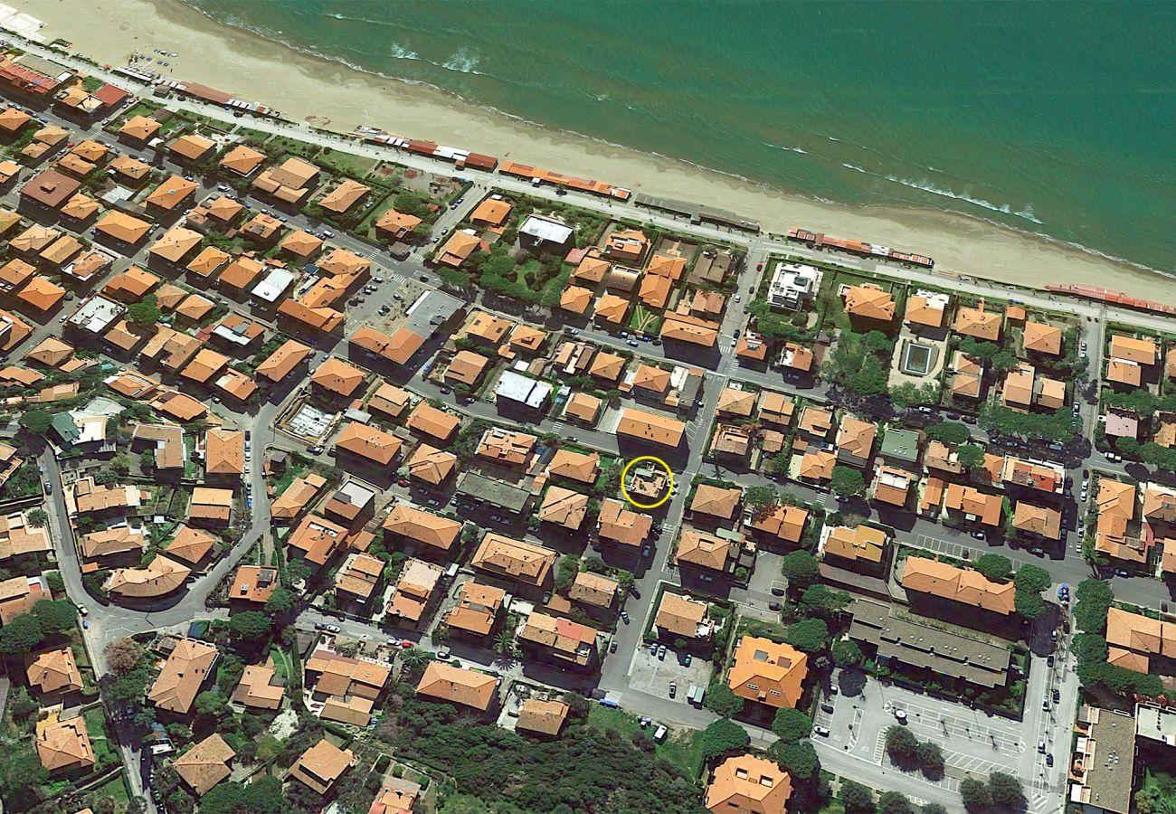 Castiglione della Pescaia - Wohnung  Anna - Die Lage im Dorf