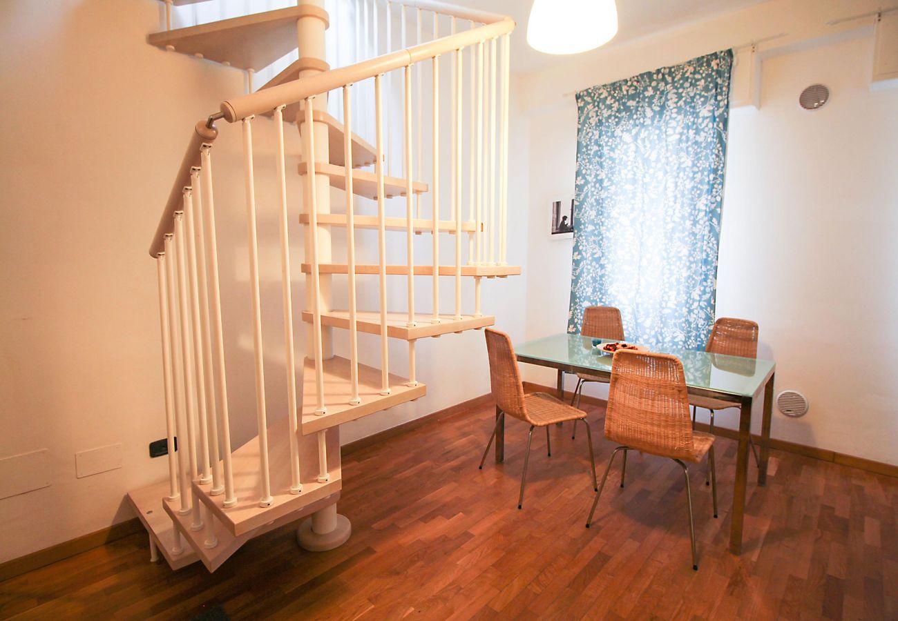 Marina di Grosseto-Wohnung Lavanda -Das klimatisierte Esszimmer