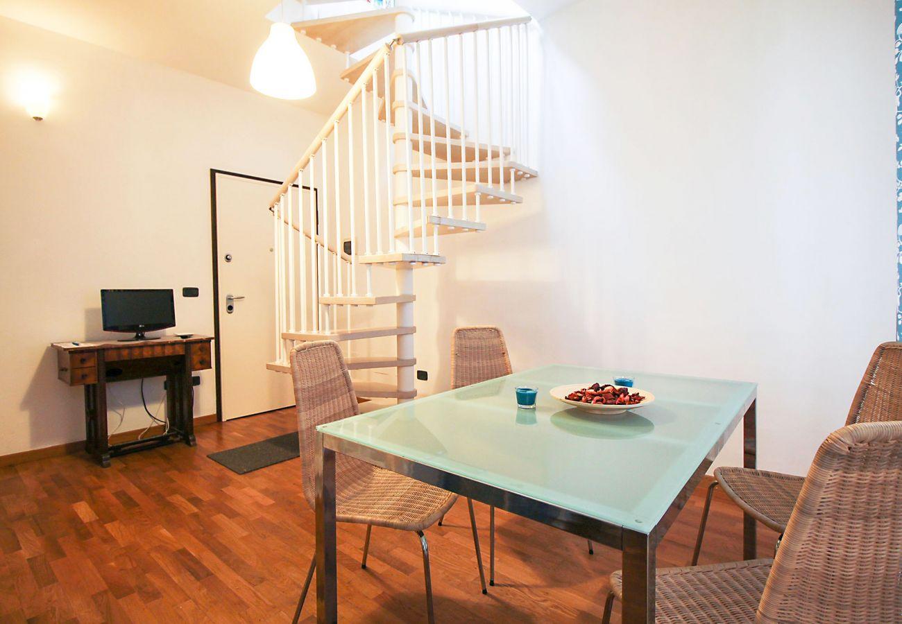 Marina di Grosseto - Wohnung Lavanda - Das klimatisierte Wohnzimmer
