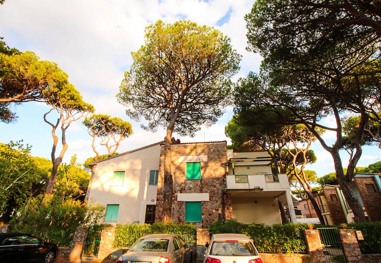 Marina di Grosseto - Wohnung  Lavanda- Die Fassade des Hauses