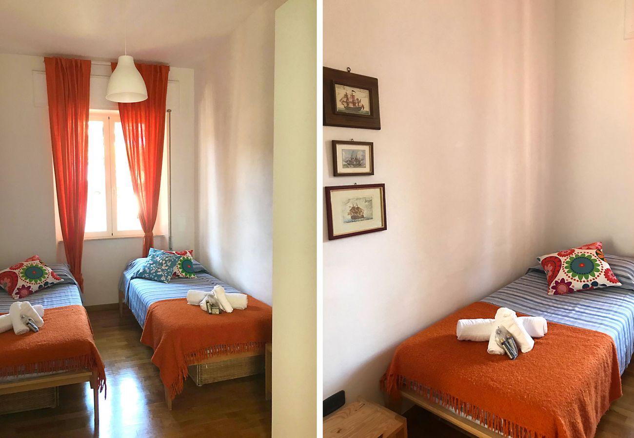 Marina di Grosseto-Wohnung Lavanda-Das zweite Schlafzimmer
