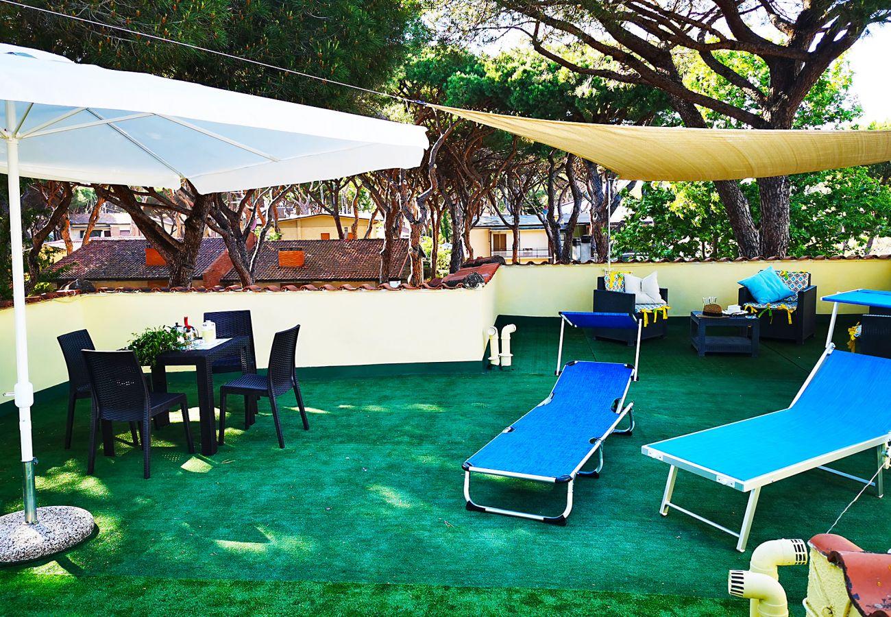 Marina di Grosseto-Wohnung Lavanda-Entspannen Sie auf der Terrasse