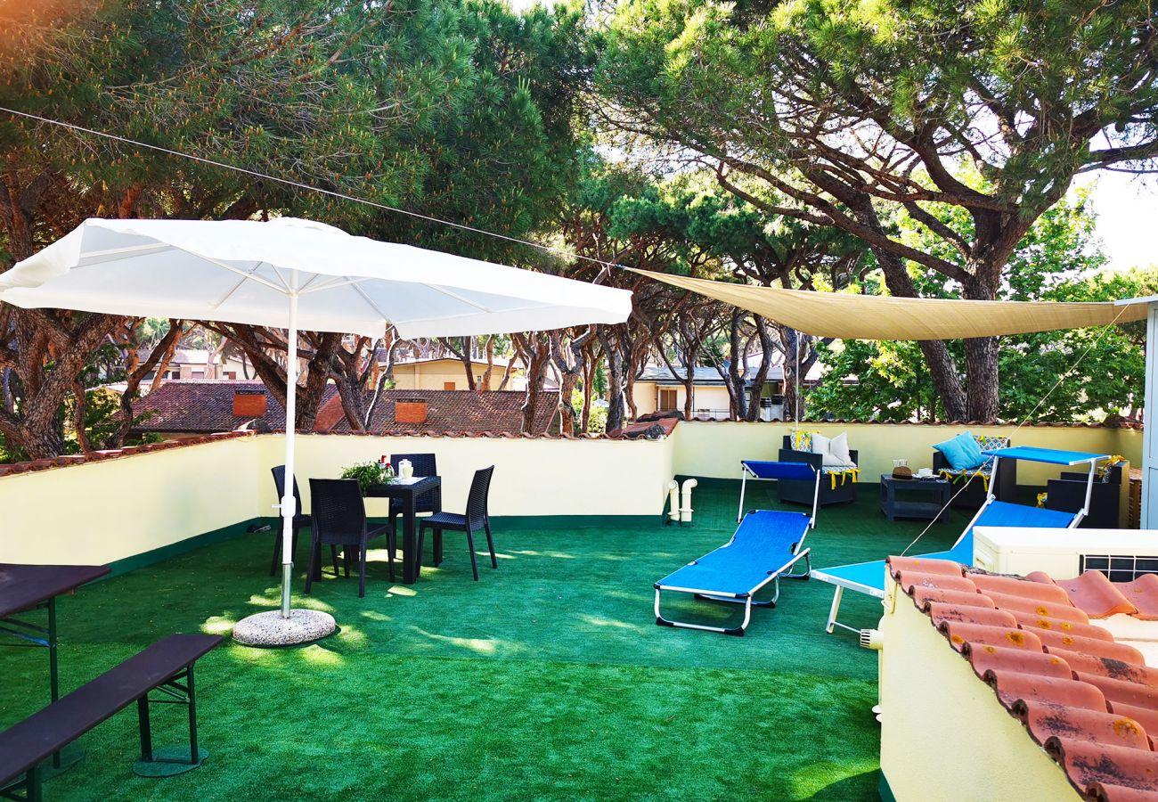 Marina di Grosseto - Wohnung Lavanda - Die große Dachterrasse