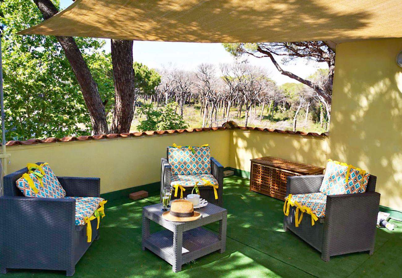 Marina di Grosseto - Wohnung Lavanda - Aperitif auf der Terrasse