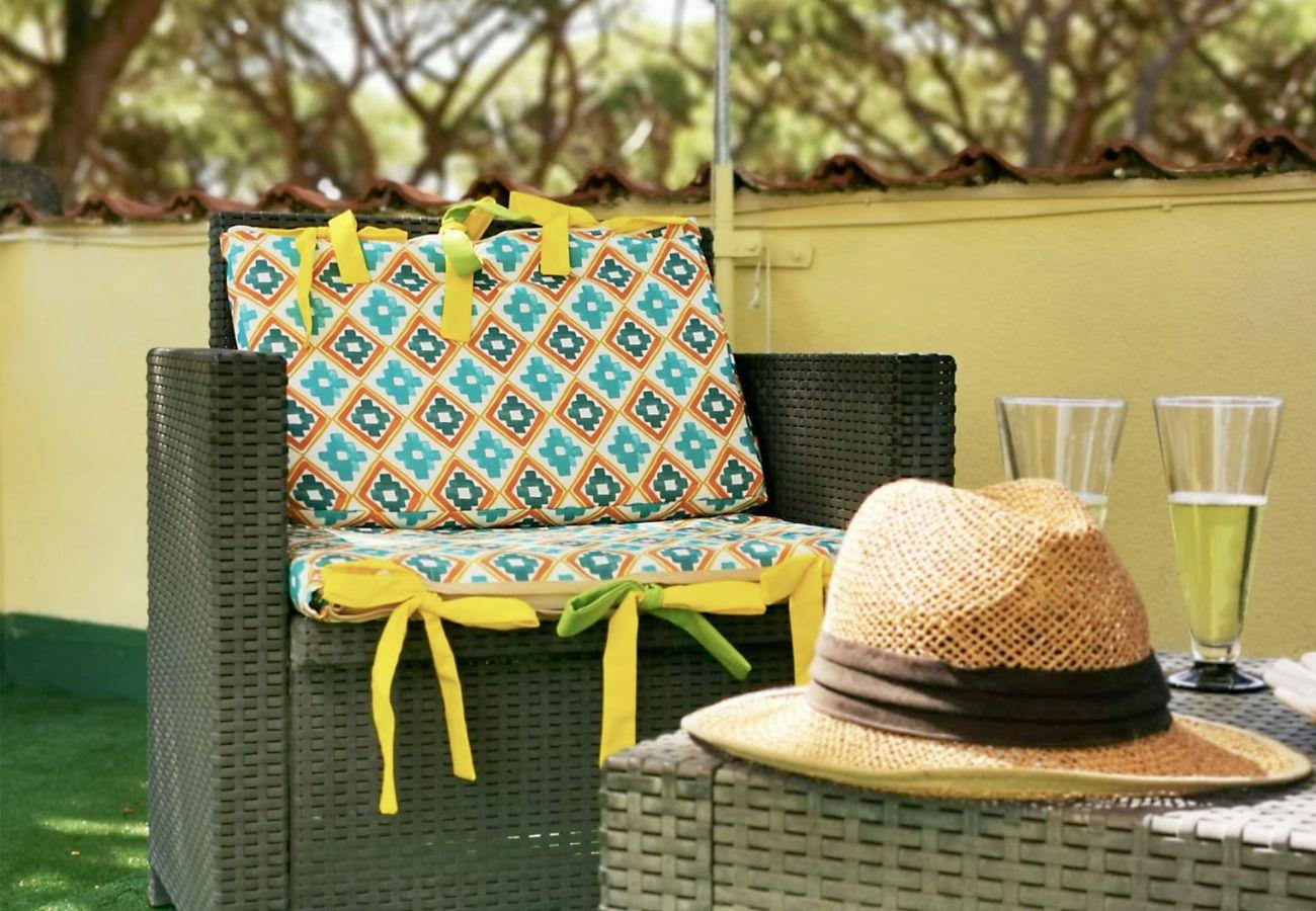 Marina di Grosseto - Wohnung Lavanda - Entspannen Sie sich auf der Terrasse