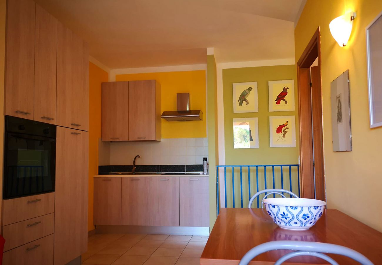 Principina mare -Wohnung Bruno-Die Küche-Wohnzimmer