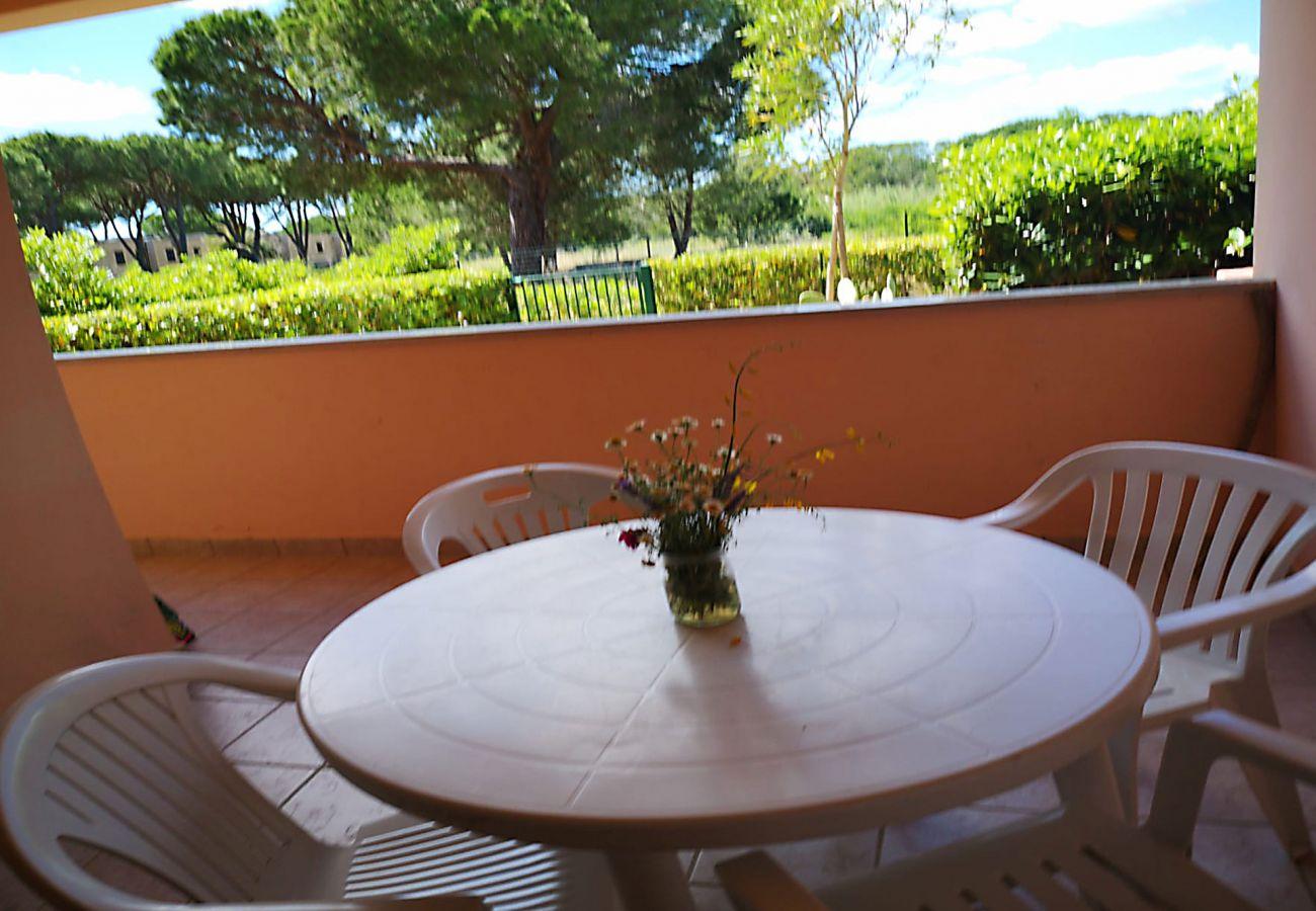 Principina Mare - Wohnung Bruno - Entspannen Sie auf der Terrasse
