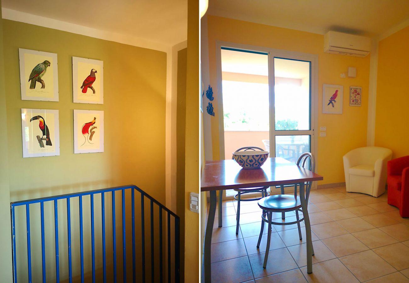Principina Mare - Wohnung Bruno - Blick auf das Wohnzimmer