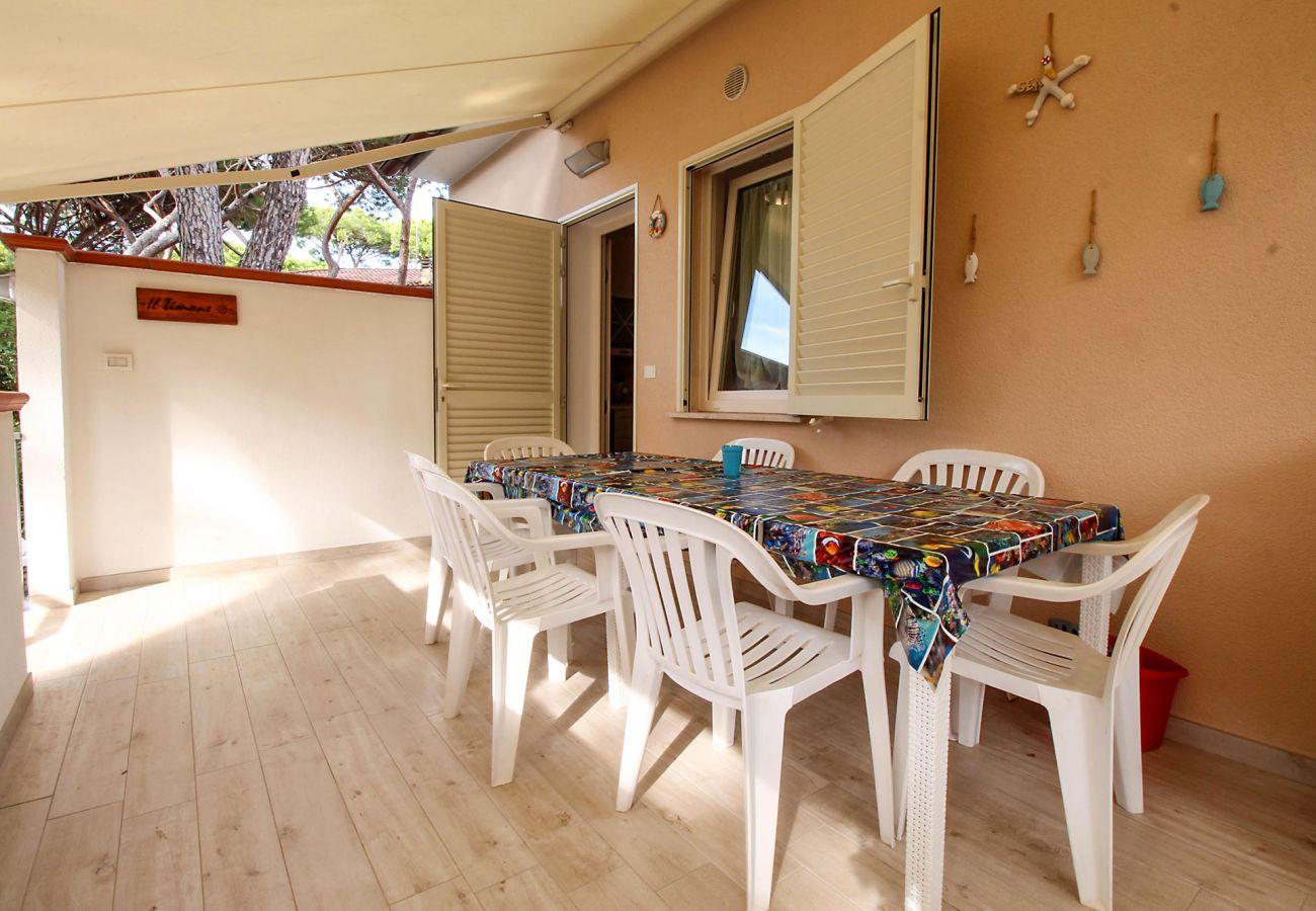 Marina di Grosseto - Appartement Il Timone - Vue de la terrasse