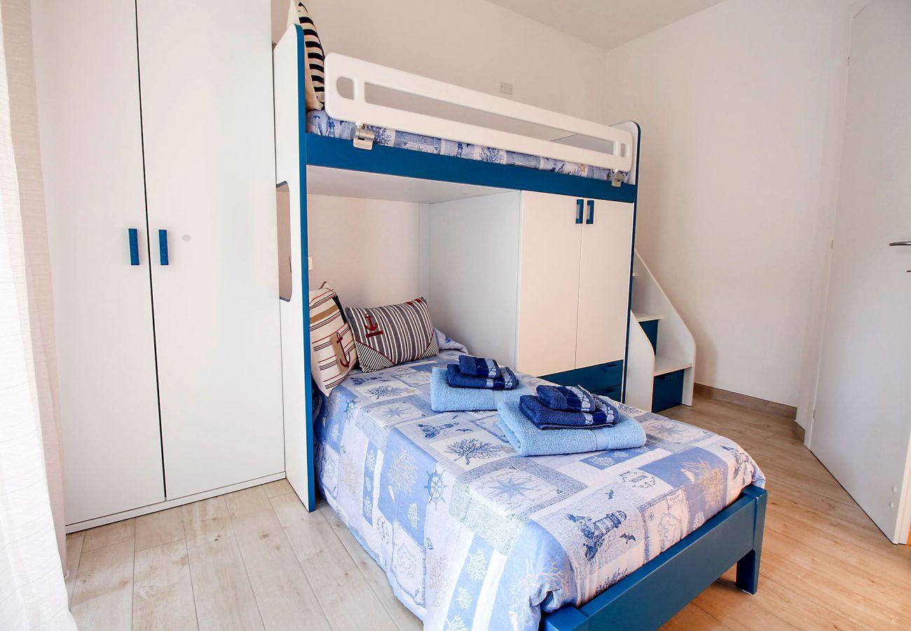 Marina di Grosseto - Appartement L'Oblò - La chambre des enfants