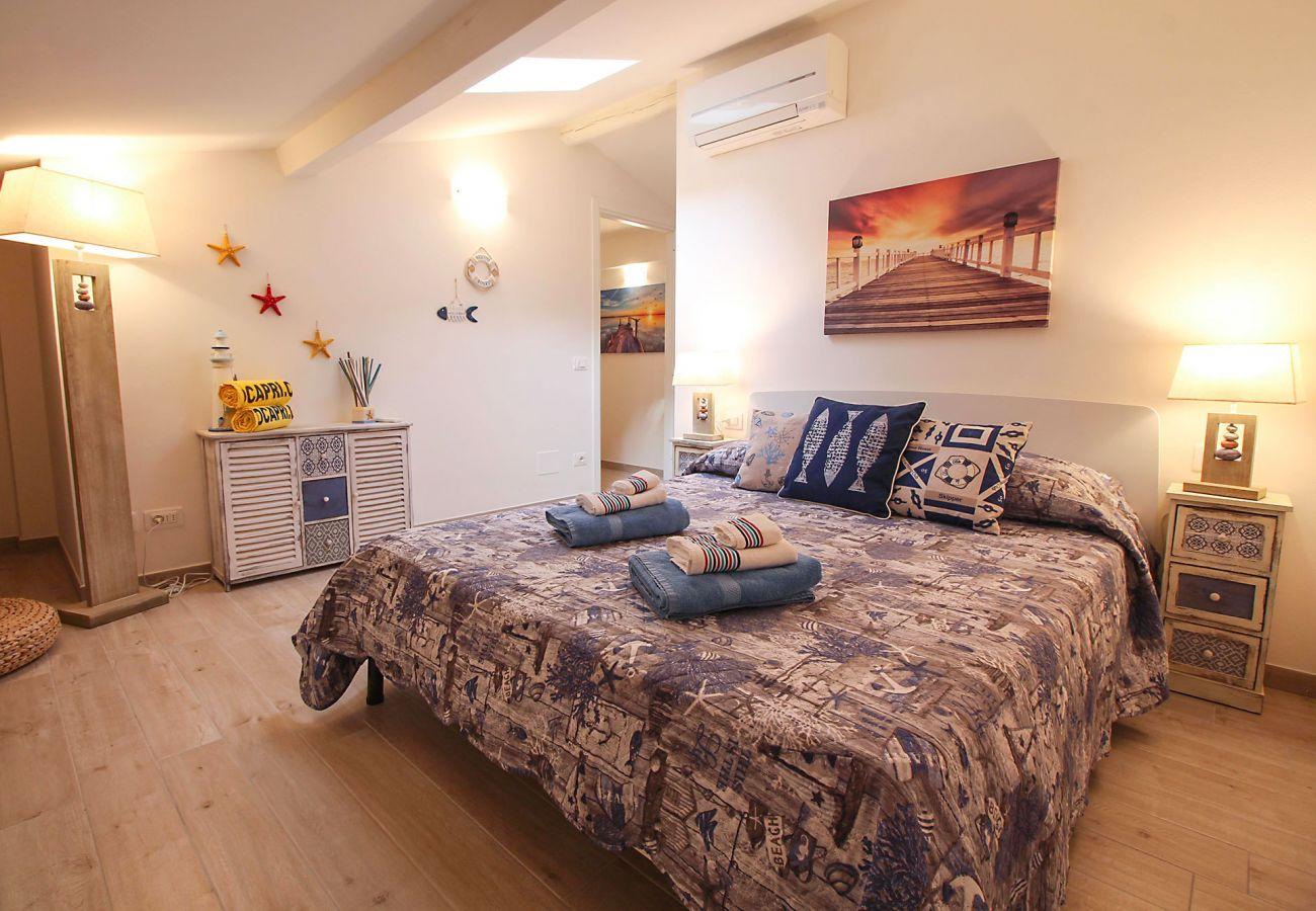 Marina di Grosseto - Il Timone Apartment - The bedroom on the second floor