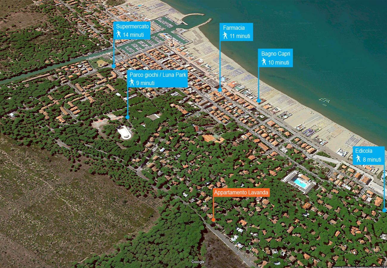 Lavanda apartment in the cool pine forest of Marina di Grosseto